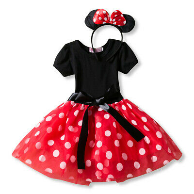 Girls Dress Mickey Mouse Princess Party Dress Costume Infant Clothing Polka Dot - Mickey Mouse Costumes For Girls