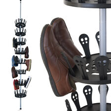 Meuble à chaussures XXL Carrousel à chaussures avec tige télescopique 96 paires