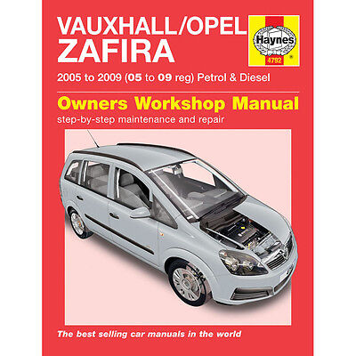 Vauxhall Zafira 1.6 1.8 2.2 Petrol 1.9 TD 05-09 (05 to 09 Reg) Haynes Manual