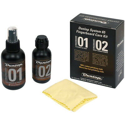 Dunlop 6502 System 65 Guitar & Bass Fretboard Kit w/ Cleaner & Conditioner