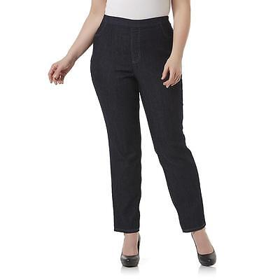 Women's Plus Size Basic Editions Curvy Fit  Stretchy Jeans Black or Blue  NWT