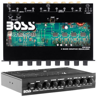 Boss EQ1208 4 Band Pre-amp Equalizer with Subwoofer