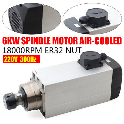 6kw Spindle Motor Er32 Air-cooled D120mm 18000rpm High Speed Cnc Router Milling