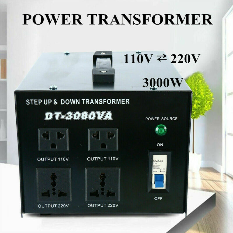 3000 Watt Step-Up/Down Voltage Transformer Converter 110 volts to 220 volts