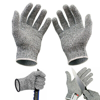 LV5 Cut Resistant Butcher Gloves Anti-cutting Safety for Kitchen Outdoor -