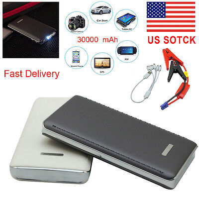 30000Mah Portable Car Jump Starter Charger Booster Battery Power Bank Pack Led
