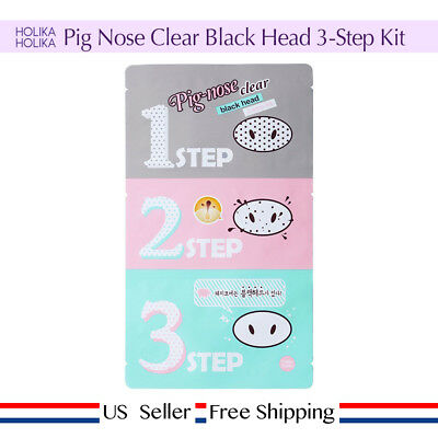 Holika Holika Pig Nose Clear Black Head 3-Step Kit 1~10 Sheet + free sample [US]