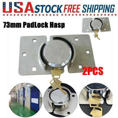 Hidden Shackle Hockey Puck Round Padlock W 4x Keys Van Trailer Door Shed 73m