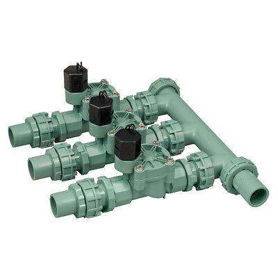 Orbit 57253 Pre-Assembled 3 Valve Sprinkler Manifold System, Irrigation Valves