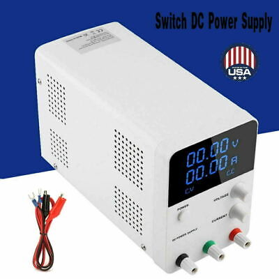 32v 10a Dc Power Supply Adjustable Variable Dual Digital Lab Test W Led Display