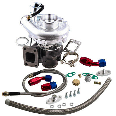 Universal Turbo Turbocharger for T3 T4 AR 63 400HP Oil Drain Return Feed Line