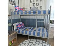 ☀️☀️STRONG QUALITY☀️☀️ SINGLE WHITE METAL BUNK BED WITH MATTRESS OPTION AVAILABLE