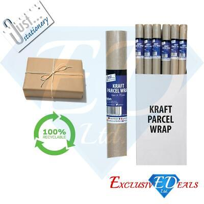 Brown Kraft Parcel Paper For Packing And Wrapping Parcels - 1 Roll Of 4m X 70cm