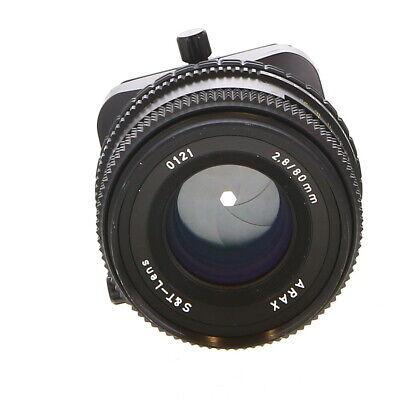 Rare Arax 80mm f/2.8 Tilt & Shift Lens (S&T) for Canon - BG
