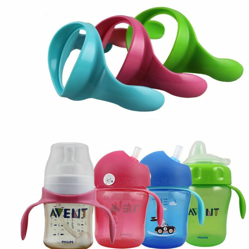 2 Pcs 100% Safe Feeding Bottle Handles for  Wide Mouth Feedi