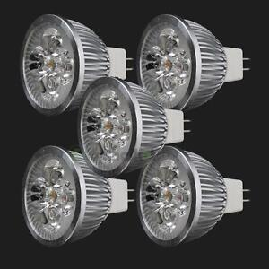 5 x New LED Spotlight Bulb MR16 4W 12V 3000K Warm White Light Energy Saving
