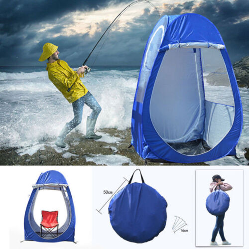Outdoor Single Tent Pod+Carry Bag+4 Stakes For Sports Campin