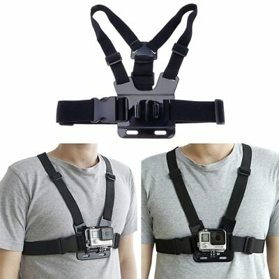 adjustable chest harness strap mount for gopro