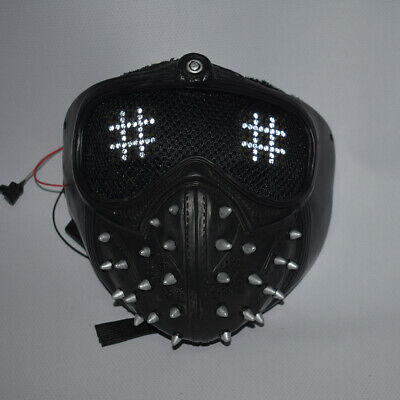 Costumes With Dogs (Watch Dogs Wrench Mask With LED remote control Mask Cosplay)