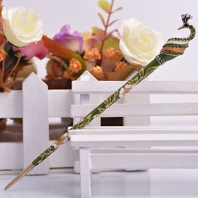 Hair Chopsticks Peacock Shape Handmade Jewelry Hair Stick Hair Accessories](Peacock Accessories)