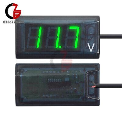 Digital Voltmeter Voltage Green Led Display Gauge Panel Meter Dc 12v For Car