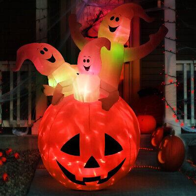Air Blown Blow Up Inflatable Pumpkin Ghost Halloween Outdoor Yard Garden Decor