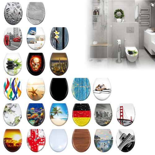 Klodeckel WC Sitz Toilettensitz Toilettendeckel Deckel Absenkautomatik Duroplast