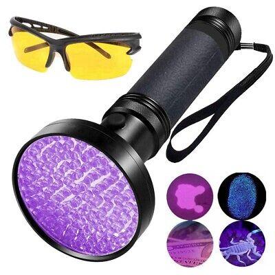 100 LED UV Torch Flashlight Blacklight 395nm Inspection Ultra Violet Light Lamp