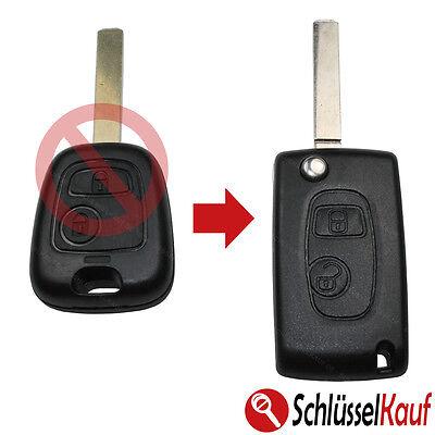 Conversión Llave Plegable las Del Coche Control Remoto Para Peugeot 207 307...