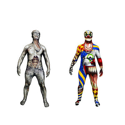 Scary Holloween fancy dress Costume. Morphsuit, ZOMBIE, SCARY CLOWN - Scary Morphsuit