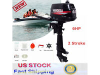 6 HP 2 Stroke Outboard Motor Fishing Boat Marine Engine CDI Water Cooling System