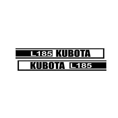 Kl185 New Hood Decal Set Fits Kubota Tractor Model L185