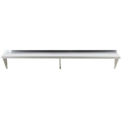 Regency Nsf 18 Gauge Stainless Steel 15 X 84 Restaurant Solid Wall Shelf