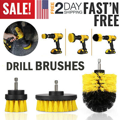 Drill Brushes Set Tile Grout Power Scrubber Cleaner Tool Spin Tub Shower Wall