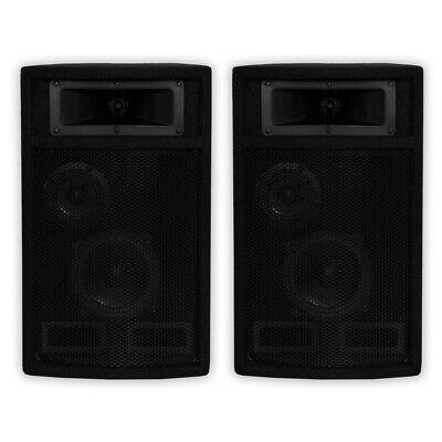 Acoustic Audio PA-500X Passive 800W 3-Way Speaker Pair DJ PA Studio Speakers