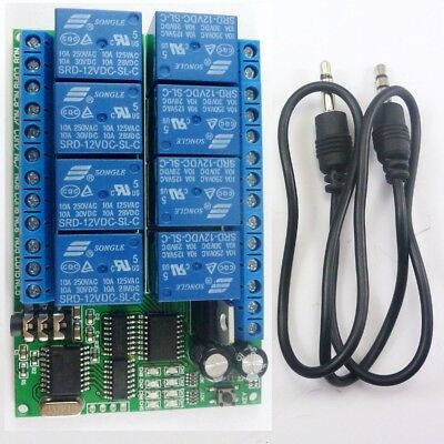 12VDC 8ch MT8870 DTMF Tone Signal Decoder Relay Phone Remote Control Switch PLC