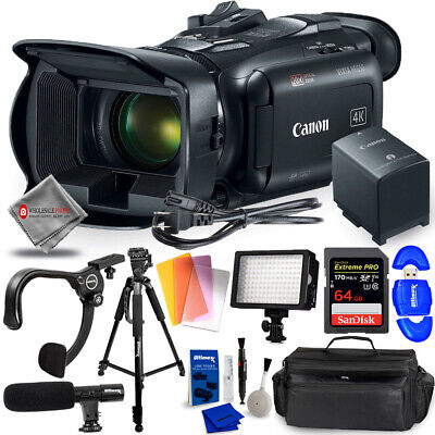 Canon Vixia HF G50 UHD 4K Camcorder (Black) + LED Light Kit - AUTHORIZED DEALER
