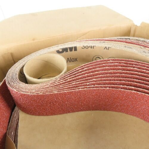 "25 Each 3M 384F 3""x21"" 120+ Grit XF-Weight Cloth Belt"
