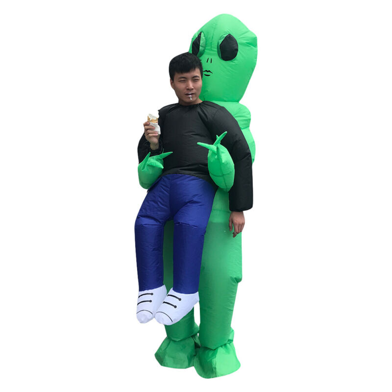 Alien Abduction Inflatable Costume Funny Festive Outfit Party Dressing Adult