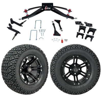 "GTW 6"" Club Car Precedent Golf Cart Lift Kit With A/T Tires & 12"" Wheels 2004-Up"