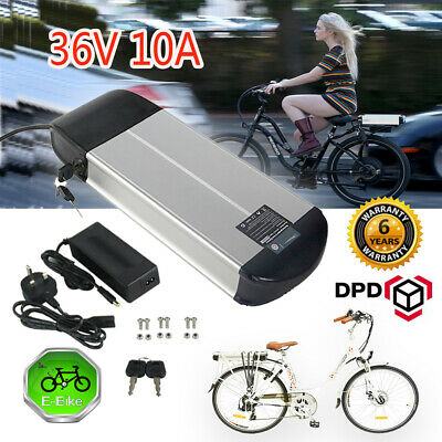 Lithium Ion Battery 24V 10Ah BMS Lockable 200W Electric Bicycle eBike BES