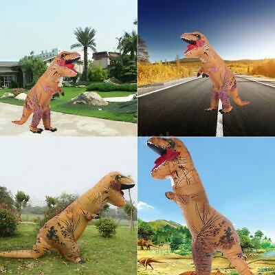 Aufblasbar T-REX Halloween Karneval Dinosaurier Kostüm für Erwachsene Kinder