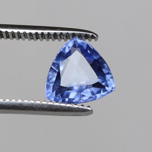 Natural Sapphire Ceylon Cornflower 3.70 Ct Trillion Loose Gemstone Certified