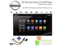 "Nissan Qashqai Note Xtrail Juke 6.2"" Android Bluetooth WiFi Car Stereo GPS DVD USD SD Aux CD Player"