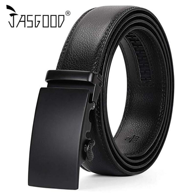 Genuine Leather Belt Men Ratchet Belts With Adjustable Automatic Buckle Us Stock