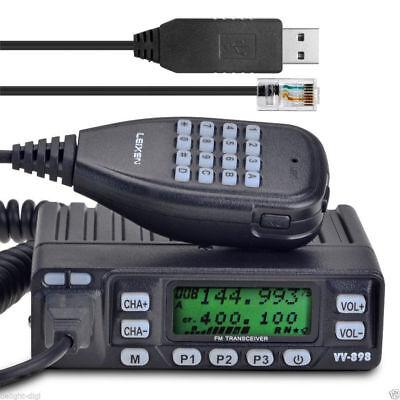Leixen VV-898 V/HF 10W Car Transceiver Mobile Walkie Talkie + Free PC Cable *US*