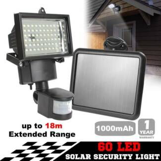Flood light outdoor lighting gumtree australia free local 60 led ultra bright solar security light motion detection sensor aloadofball Image collections
