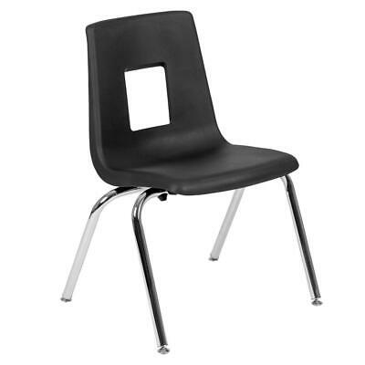 Black Student Stack School Chair - 16-inch