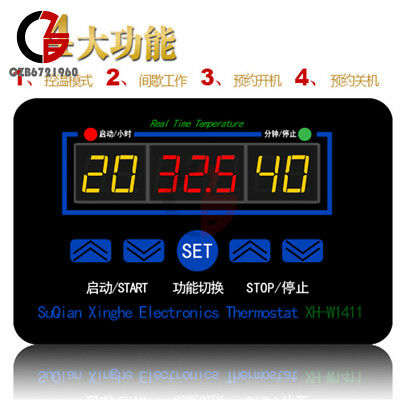 Xh-w1411 Dc 12v Multi-functional Temperature Controller Thermostat Switch
