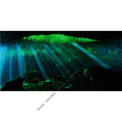 TOP FIN UNDERWATER CAVE Aquarium Background Static Cling Film 18